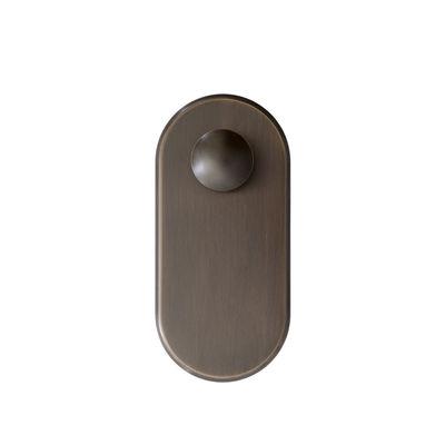 Mobilier - Portemanteaux, patères & portants - Patère SC46 / Acier - &tradition - Bronze - Acier galvanisé
