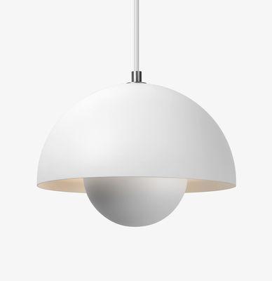 Lighting - Pendant Lighting - FlowerPot VP1 Pendant - Ø 23 cm by &tradition - White matt - Lacquered aluminium