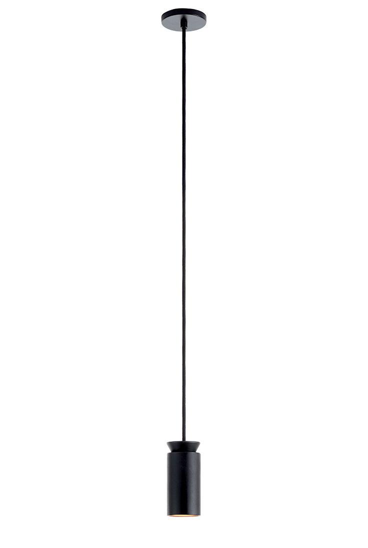 Lighting - Pendant Lighting - Triana Simple Pendant - / Ø 6 x 15 cm by Carpyen - Black - Aluminium
