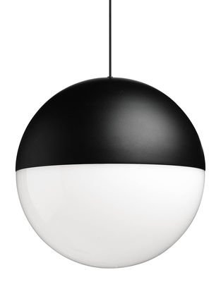 String Light Sphere Pendelleuchte LED / 12 m langes Kabel als Deko-Element - Flos - Schwarz