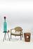 Poltrona imbottita Roundy - / Tessuto & legno di Pols Potten