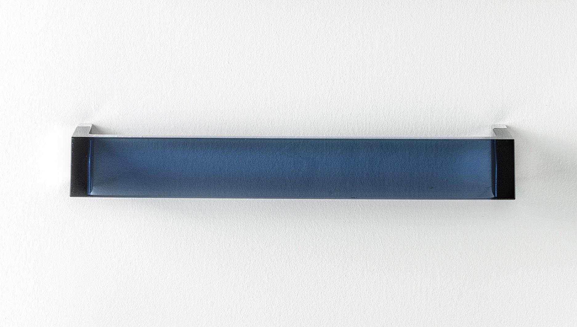 Accessoires - Accessoires salle de bains - Porte-serviettes mural Rail / L 30 cm - Kartell - Bleu crépuscule - PMMA