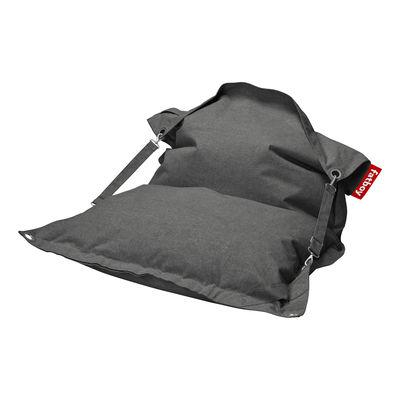 Pouf Buggle-up Outdoor / Sangles ajustables - Tissu Olefin - Fatboy L 190 x Larg 140 cm gris en tissu