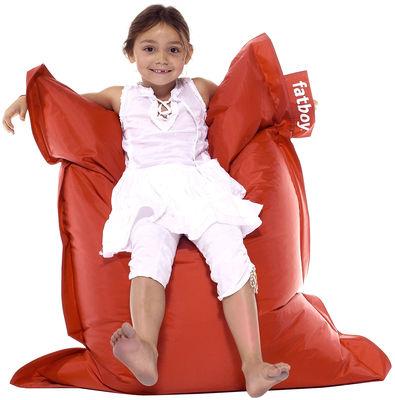 Pouf Junior / Pour enfant - Fatboy Larg 100 x L 130 cm rouge en tissu