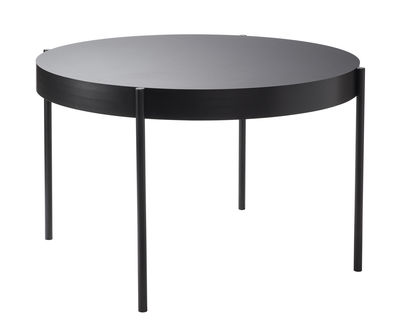 Trends - Dinner Time - Series 430 Round table - / Ø 120 cm - Fenix-NTM® by Verpan - Fenix-NTM® / Black - Lacquered steel, MDF, Thermo-stratified Fenix-NTM®