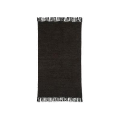 Decoration - Rugs - Melange Rug - / 60 x 100 cm - Handwoven by Ferm Living - Chocolate - Cotton