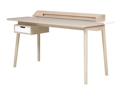 Arredamento - Mobili da ufficio - Scrivania Honoré di Hartô - Bianco - MDF rivestito in rovere, Rovere massello