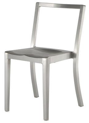 Arredamento - Sedie  - Sedia Icon Outdoor di Emeco - Alluminio opaco - Alluminio spazzolato riciclato
