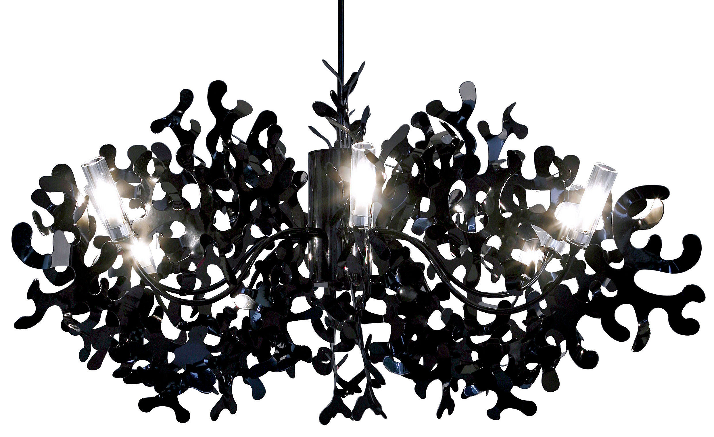 Illuminazione - Lampadari - Sospensione Coral - Ø 105 cm di Lumen Center Italia - Nero - metallo laccato
