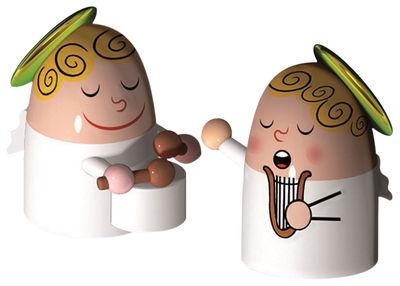 Interni - Oggetti déco - Statuina del presepio - / Set da 2: Angels band di A di Alessi - Multicolore - Porcellana
