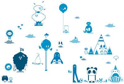 Déco - Stickers, papiers peints & posters - Sticker Friends 2 Blue - Domestic - Bleu - Vinyle