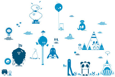 Decoration - Wallpaper & Wall Stickers - Friends 2 Blue Sticker by Domestic - Blue - Vinal