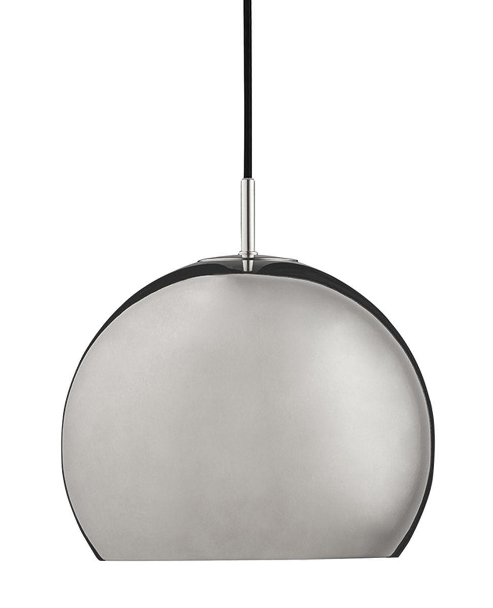 Luminaire - Suspensions - Suspension Ball Medium / Ø 25 cm - Réédition 1968 - Frandsen - Chrome glossy - Métal peint