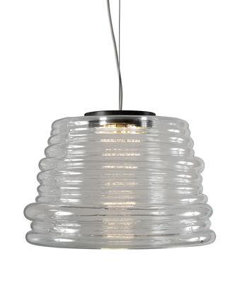 Luminaire - Suspensions - Suspension Bibendum LED / Ø 35 cm - Verre - Karman - Transparent - Verre