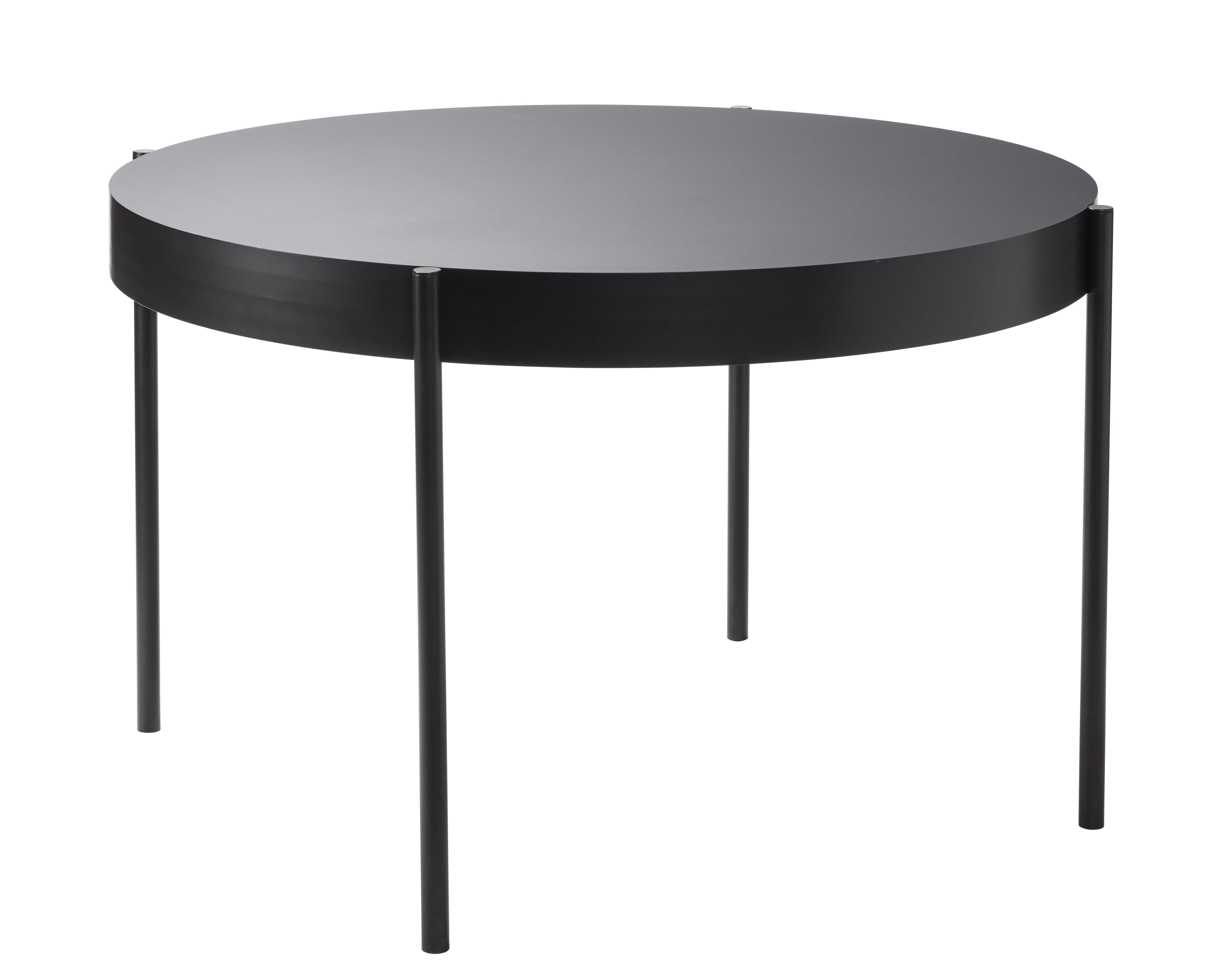 Trends - Dinner Time - Series 430 Table - / Ø 120 cm - Fenix-NTM® by Verpan - Fenix-NTM® / Black - Lacquered steel, MDF, Thermo-stratified Fenix-NTM®