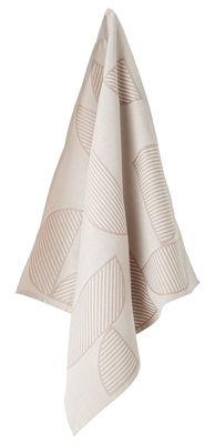 Torchon Figura / Set de 2 - AYTM rose,gris clair en tissu