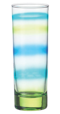 Arts de la table - Verres  - Verre long drink Rainbow - Leonardo - Fond vert sapin - Verre