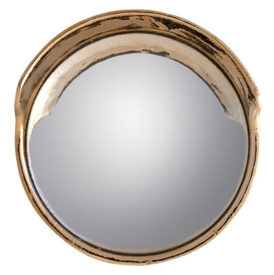 Decoration - Mirrors - Focalize Wall mirror - Convex - Ø 41 cm by Seletti - Gold - China, Mirror