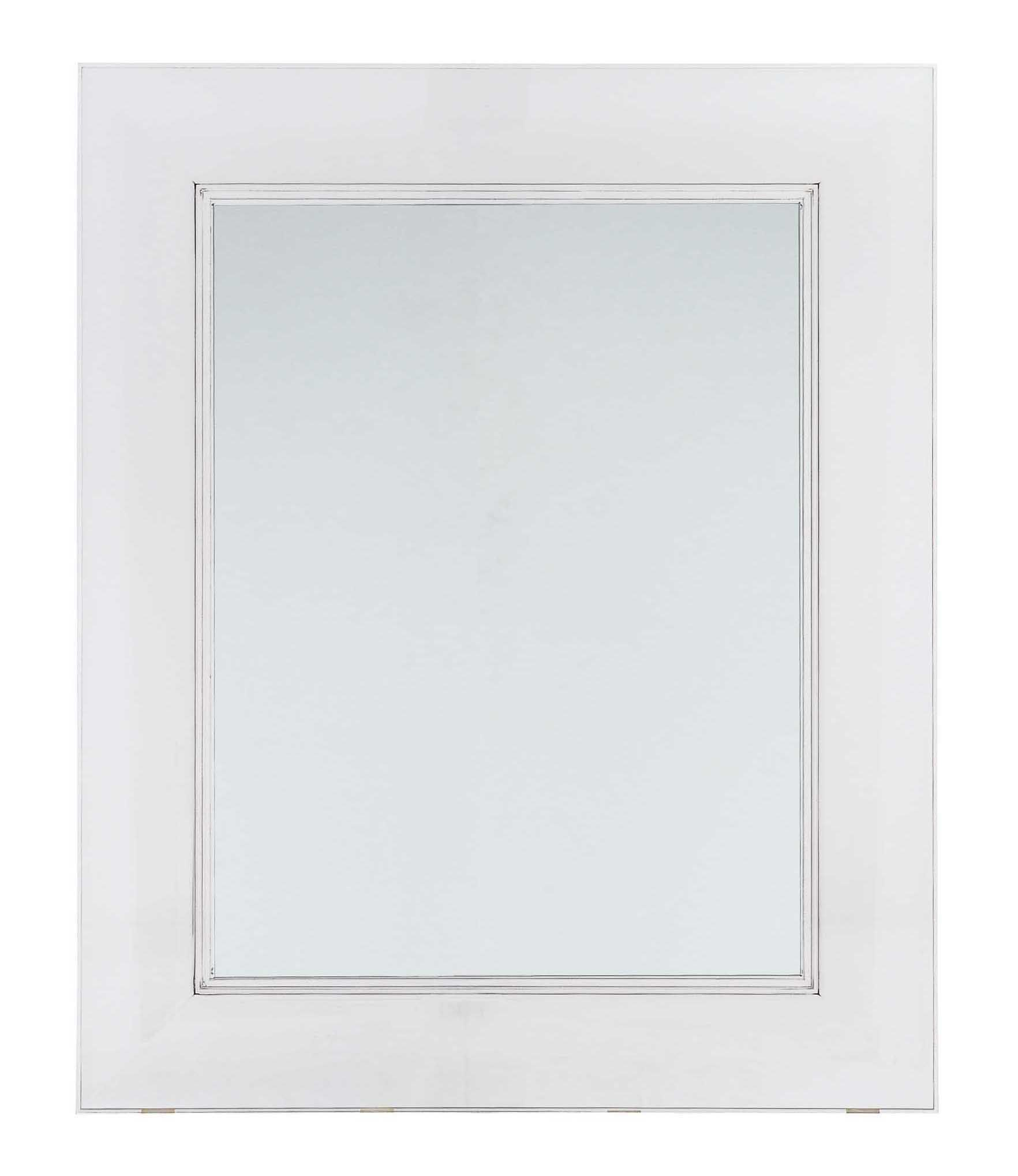 Furniture - Miscellaneous furniture - Francois Ghost Wall mirror - 65 x 79 cm by Kartell - Cristal - Polycarbonate