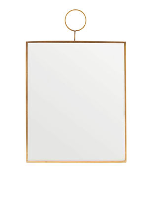 Decoration - Mirrors - The Loop Wall mirror - / Brass - 25 x 30 cm by House Doctor - 25 x 30 cm / Brass - Brass, Mirror