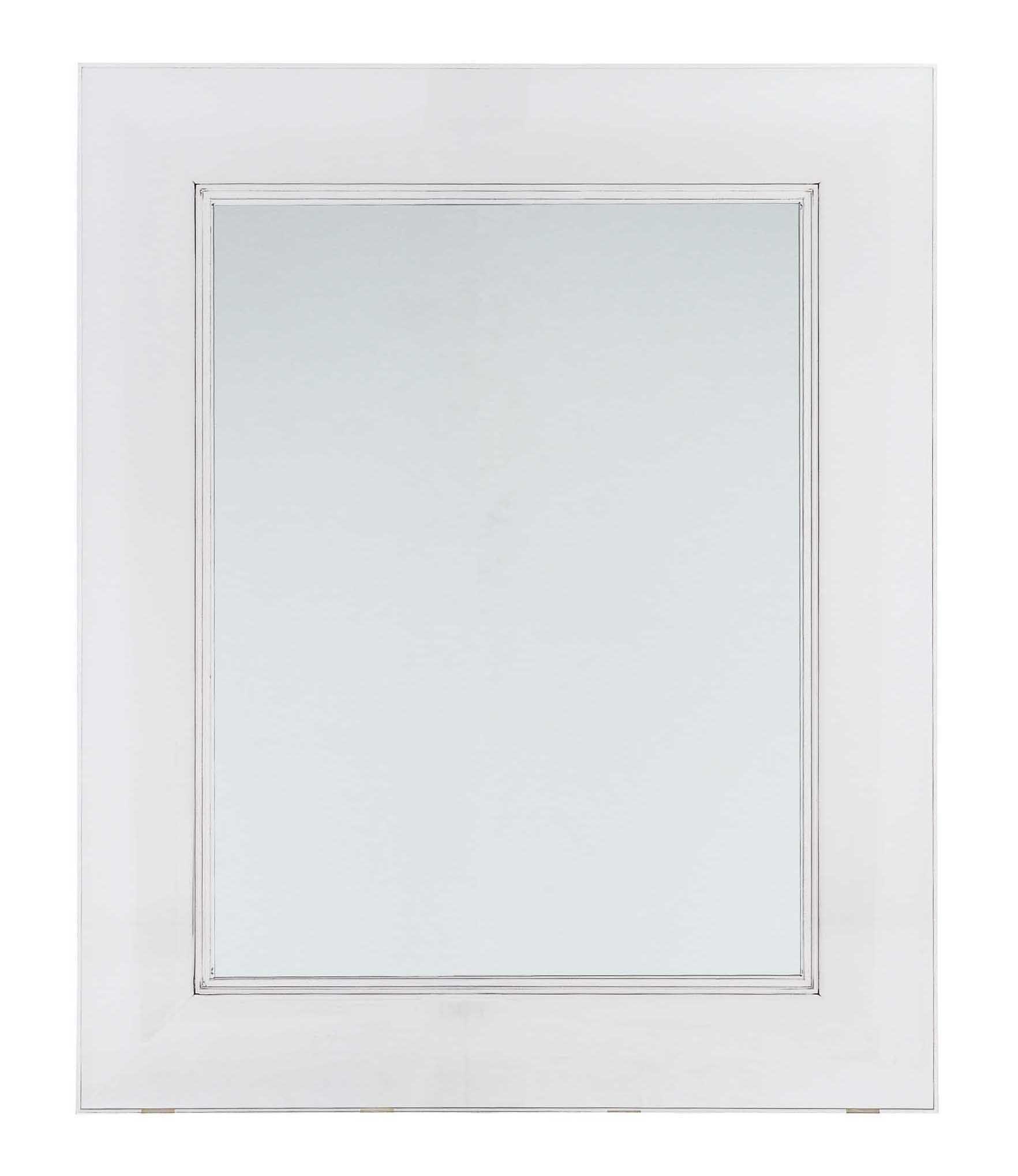 Möbel - Beistell-Möbel - Francois Ghost Wandspiegel 65 x 79 cm - Kartell - Kristall - Polykarbonat