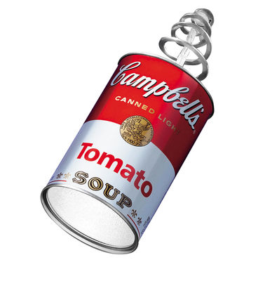 Luminaire - Appliques - Applique avec prise Canned Light - Ingo Maurer - Rouge & blanc - Aluminium