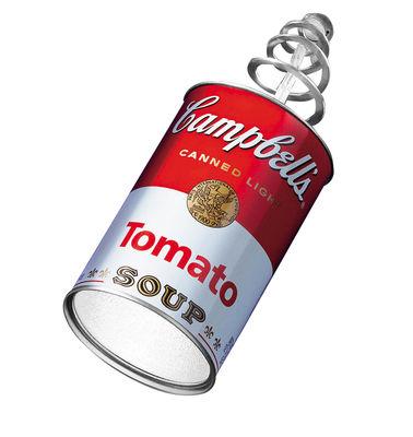 Applique avec prise Canned Light - Ingo Maurer blanc,rouge en métal