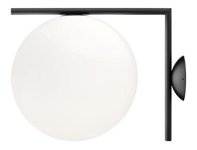 Applique IC W2 / Ø 30 cm - Flos blanc/noir en métal/verre