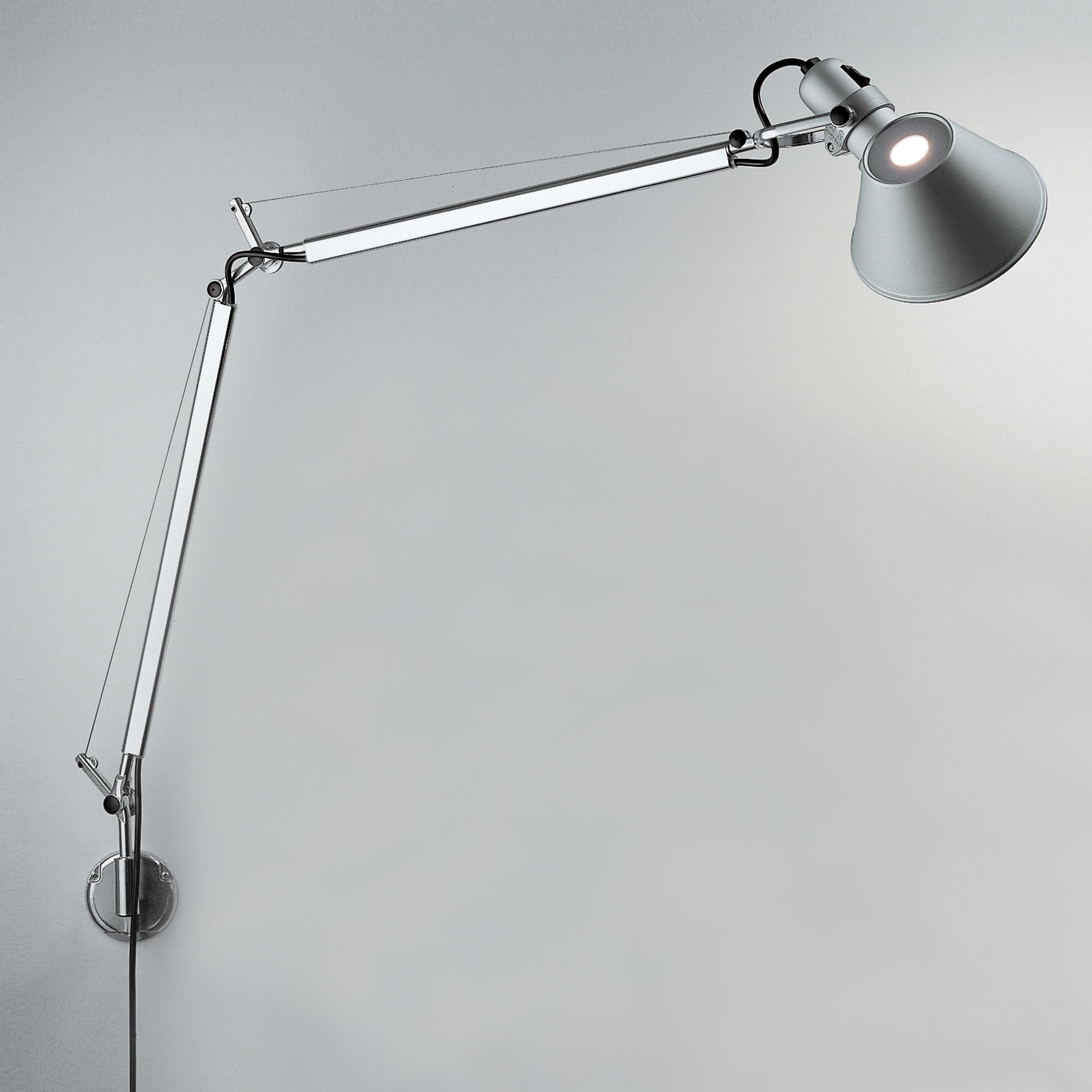 Luminaire - Appliques - Applique Tolomeo Wall LED / Bras articulé - L 81 cm - Artemide - L 81 cm / Aluminium - Aluminium