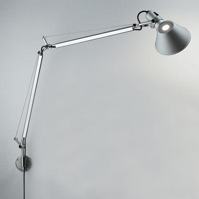 Applique Tolomeo Wall LED / Bras articulé - Artemide métal brillant,métal mat en métal