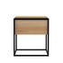 Monolit Bedside table - / Solid oak & metal - 1 drawer by Ethnicraft