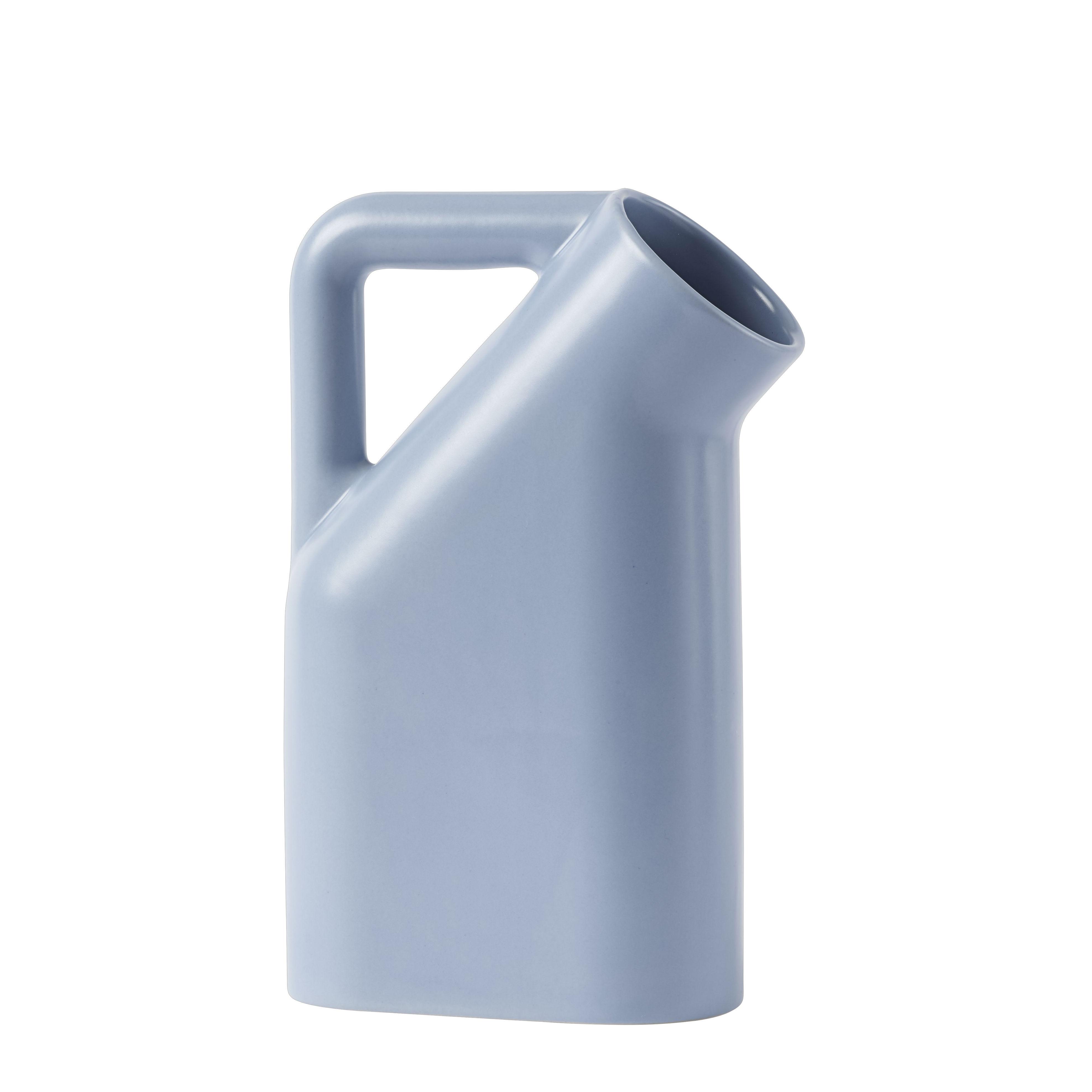 Tableware - Water Carafes & Wine Decanters - Tub Carafe - / Ceramic by Muuto - Pale blue - Enamelled sandstone