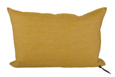 Decoration - Cushions & Poufs - Vice Versa Cushion - 37 x 50 cm by Maison de Vacances - Ochre - Cotton, Duck feathers, Flax