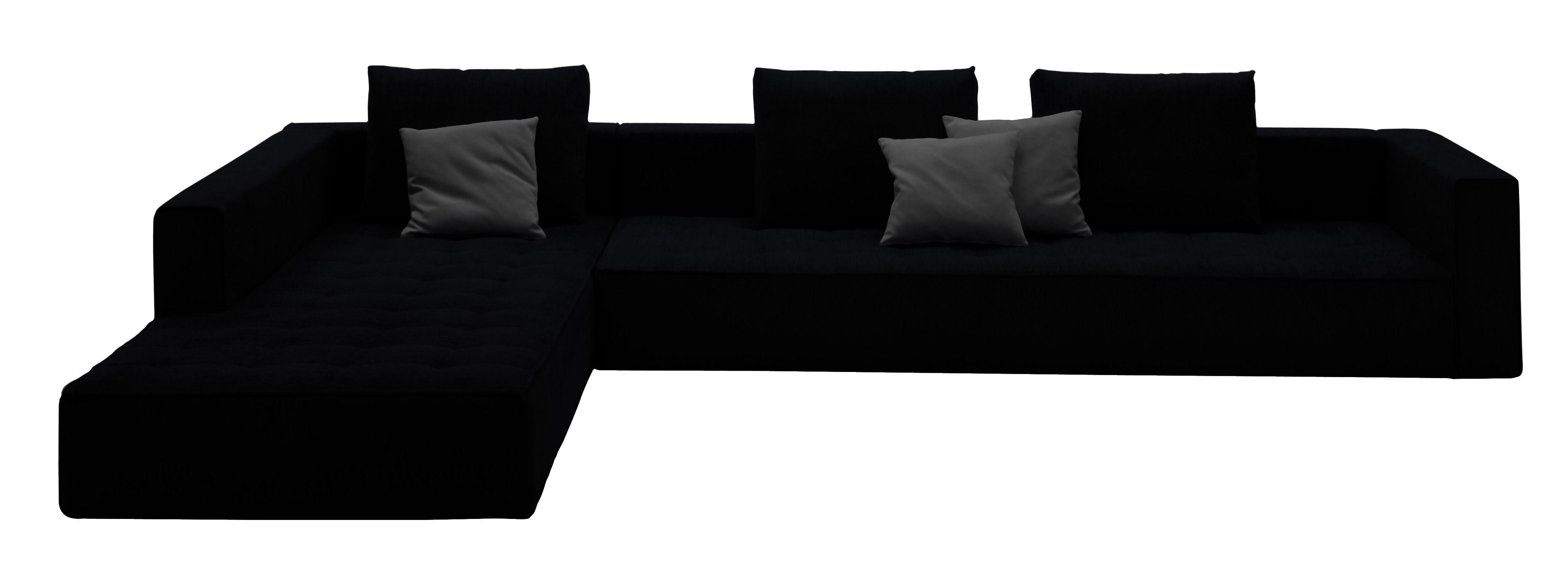 Möbel - Sofas - Kilt Ecksofa Leder - Zanotta - Leder - schwarz - Leder