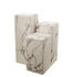 Marble look Medium End table - / H 76 cm – Marble effect by Pols Potten