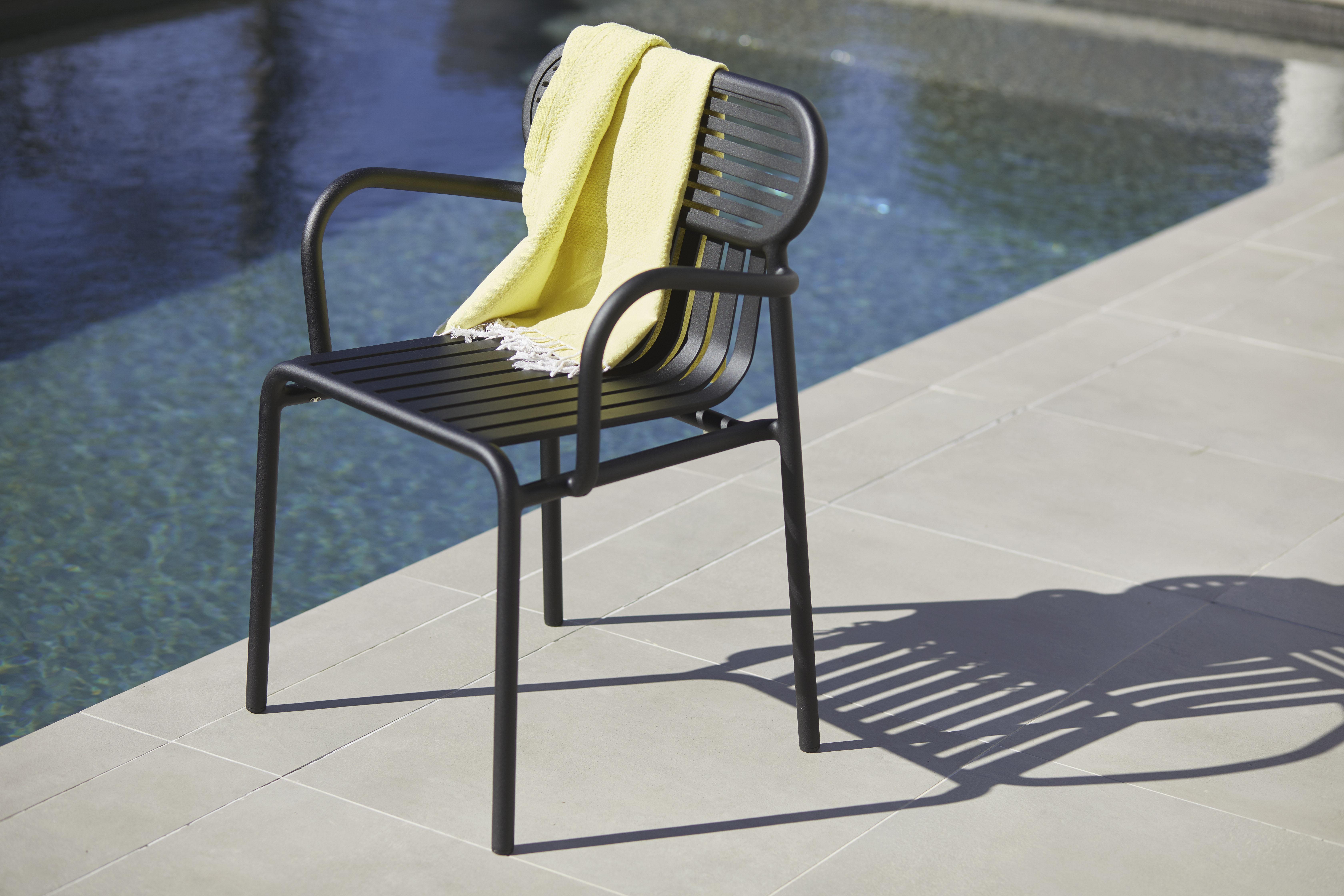 fauteuil bridge week end aluminium blanc petite friture made in design. Black Bedroom Furniture Sets. Home Design Ideas
