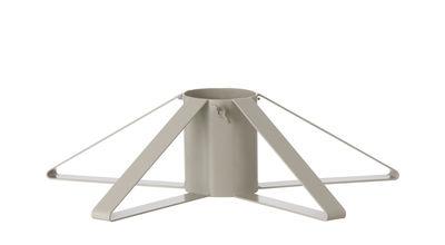 Dekoration - Weihnachtsdekoration - métal Fuß für den Weihnachtsbaum - Ferm Living - Hellgrau - Bemaltes Eisen