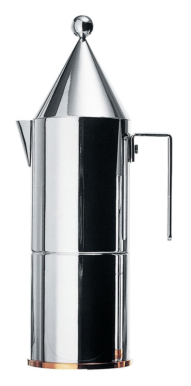 Tischkultur - Tee und Kaffee - La Conica italienischer Kaffeebereiter 6 Tassen - Alessi - 6 Tassen - rostfreier Stahl