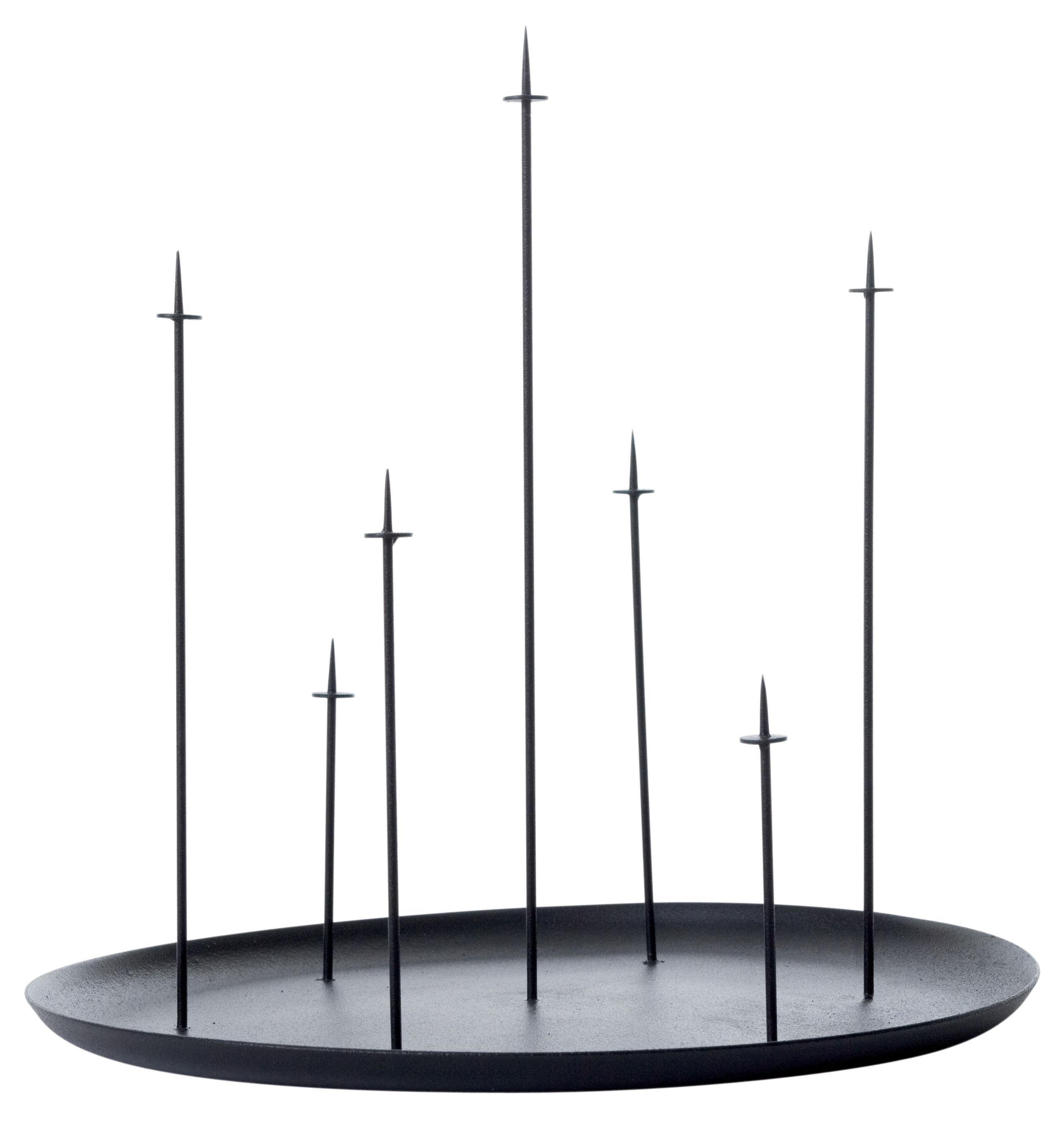 Dekoration - Kerzen, Kerzenleuchter und Windlichter - Multi pin Kerzenleuchter - ENOstudio - Schwarz - Stahl