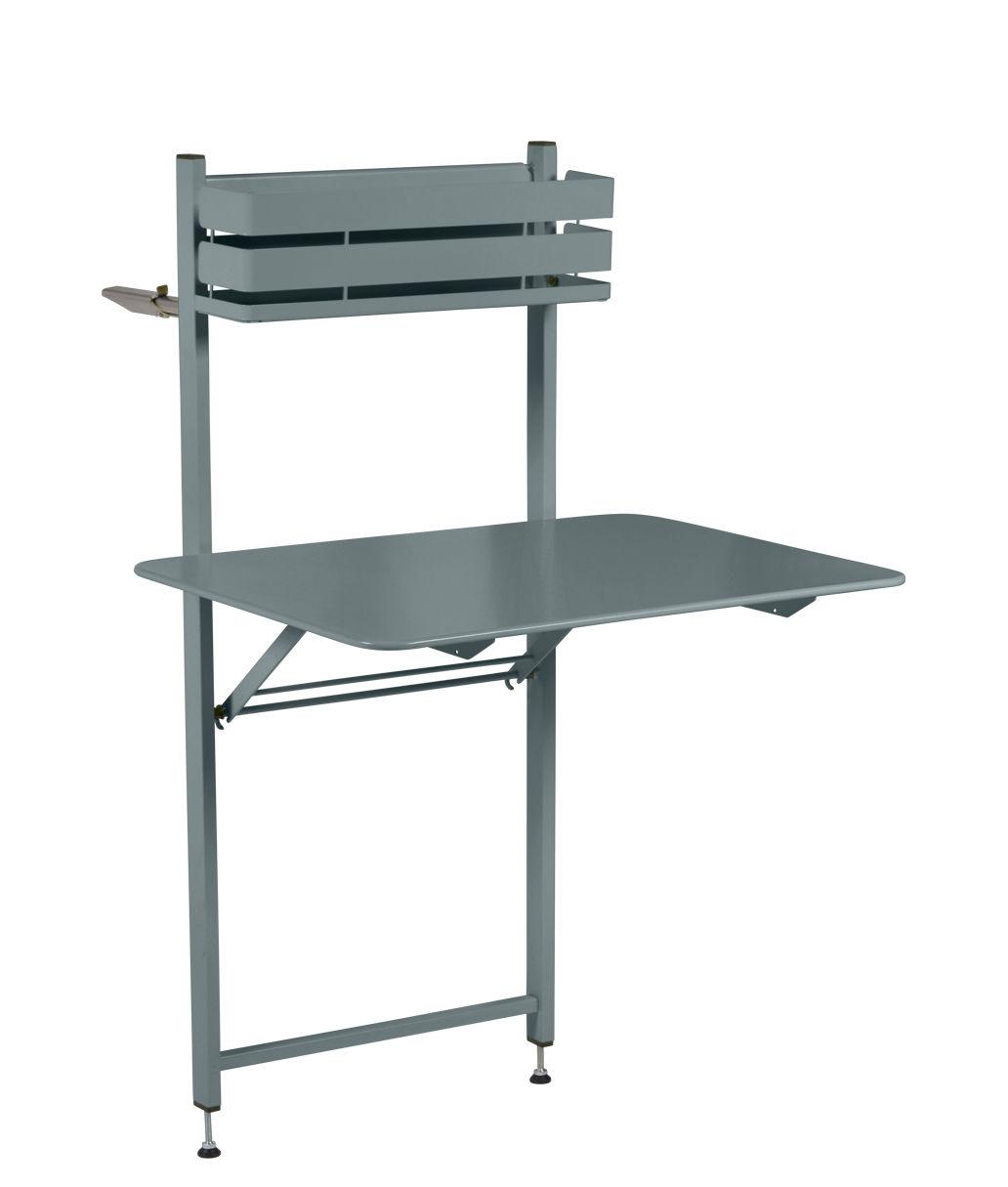 Outdoor - Tische - Balcon Bistro Klapptisch / herunterklappbar  - 77 x 64 cm - Fermob - Gewittergrau - bemalter Stahl