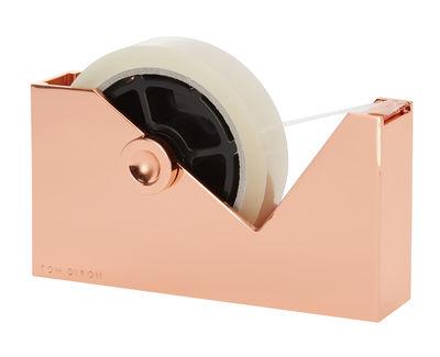 Accessoires - Accessoires für das Büro - Cube Klebebandabroller - Tom Dixon - Kupfer - Stahl mit Zinklegierung