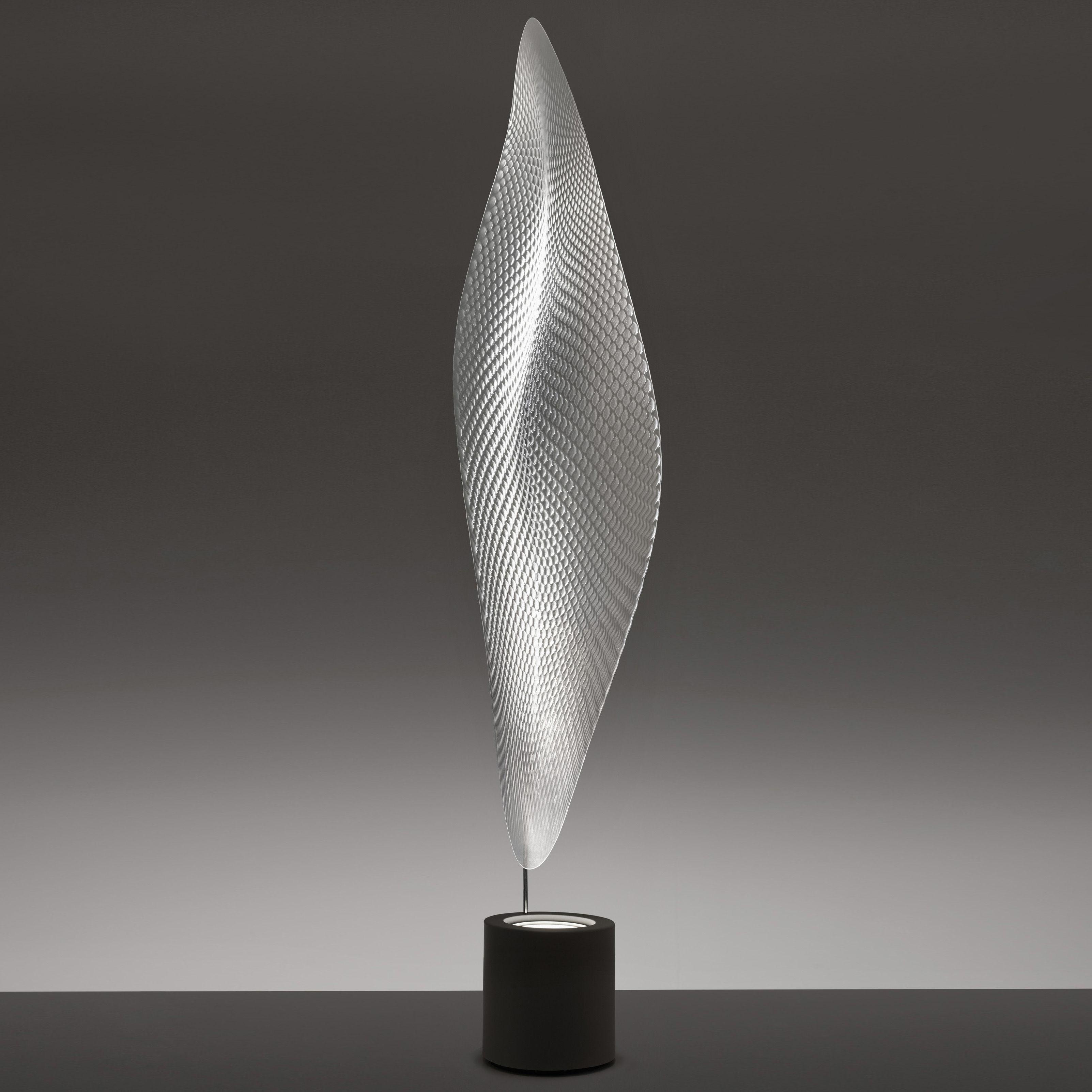 Luminaire - Lampadaires - Lampadaire Cosmic leaf - Artemide - Base grise / Diffuseur transparent - Métal, Méthacrylate
