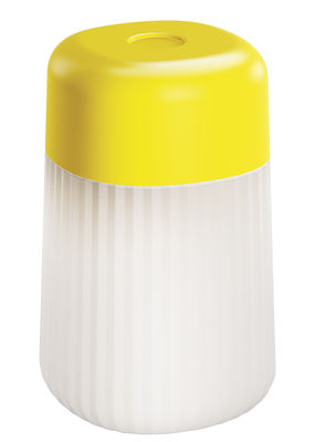 Luminaire - Lampes de table - Lampe sans fil Koho LED / Rechargeable - Fontana Arte - Jaune - Polycarbonate