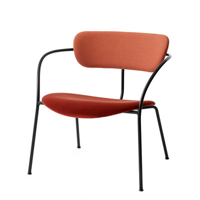 Furniture - Armchairs - Pavilion AV11 Low armchair - / Fabric & velvet by &tradition - Rusty - Fabric, Foam, Plywood, Steel
