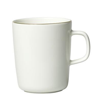 Arts de la table - Tasses et mugs - Mug Oiva / 25 cl - Edition 10ème anniversaire - Marimekko - Oiva / Blanc et or - Grès