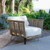 Welcome Padded armchair - / Teak & rope by Unopiu