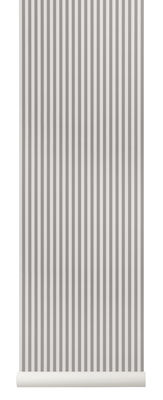 Papier peint Thin Lines / 1 rouleau - Larg 53 cm - Ferm Living gris/beige en papier