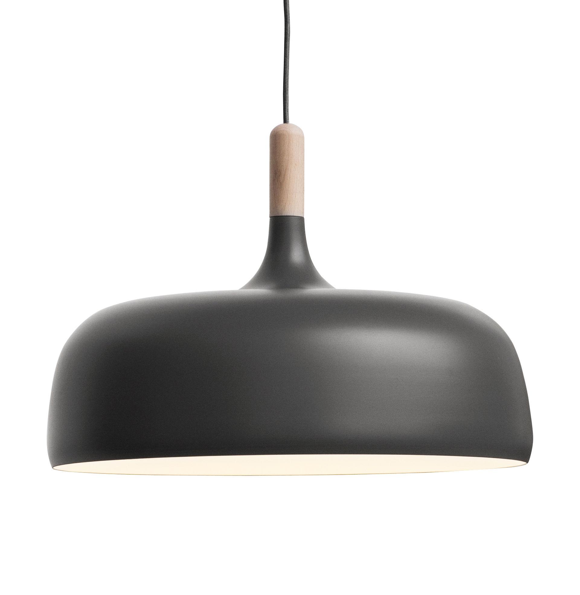 Lighting - Pendant Lighting - Acorn Pendant by Northern  - Grey, Natural Wood - Aluminium, Oak