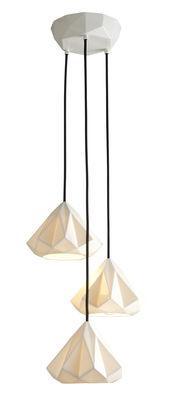 Lighting - Pendant Lighting - Hatton 1 Pendant - Set 3 bone China shades by Original BTC - White - China