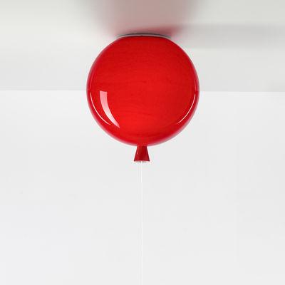 Image of Plafoniera Memory Small - / Ø 25 cm - Vetro di Brokis - Rosso - Vetro